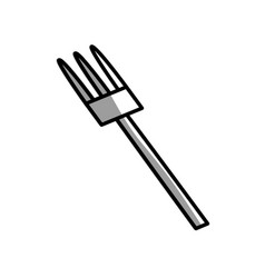 fork kitchen utensil picnic shadow vector image vector image