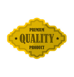 Golden premium quality product label icon vector