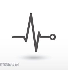 Heart beat Cardiogram Cardiac cycle Medical icon vector image