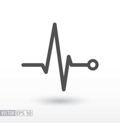 Heart beat cardiogram cardiac cycle medical icon vector