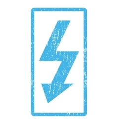High voltage icon rubber stamp vector