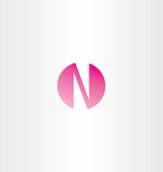 magenta letter n logotype design vector image vector image