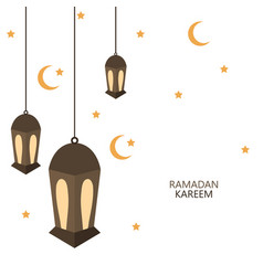 modern ramadan kareem background vector image