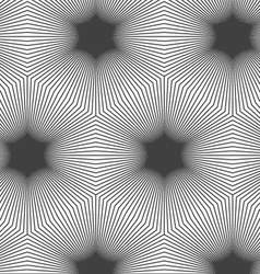Monochrome striped hexagons forming black stars vector image vector image