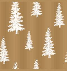 Pine tree hand drawn sketch retro vintage vector