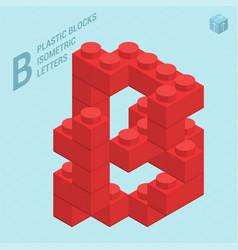 plastic blocs e letter b vector image vector image