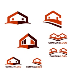 Real Estate logo and web icon vector image