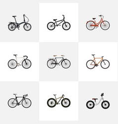 realistic bmx timbered folding sport-cycle and vector image vector image