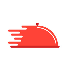 Red dish like food delivery vector