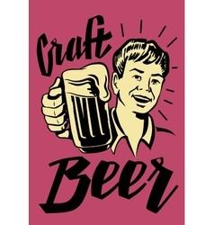 Retro beer guy vector