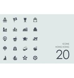 Set of Hong Kong icons vector image