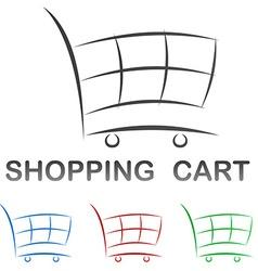 Shopping cart icon design set vector