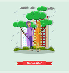 Small rain concept in flat vector