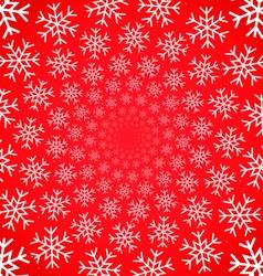 Snow vortex on red background vector