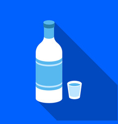Vodka icon in flat style isolated on white vector