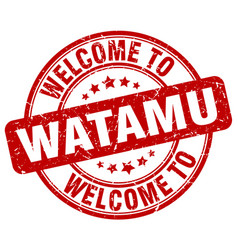welcome to watamu vector image vector image