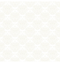 White damask texture with curling shapes vector