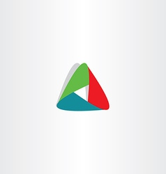 Abstract tech triangle business logo icon sign vector