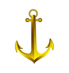 realistic golden silhouette anchor design vector image