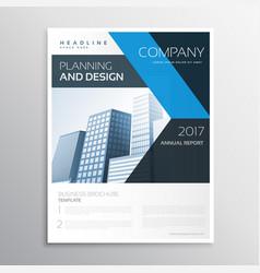 Corporate brand business leaflet or brochure vector