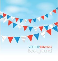Red blue bunting vector