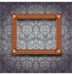 Frame on the wall vector image