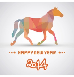 Happy new year 2014 card21 vector