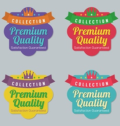 Set of Colorful Badge Labels vector image