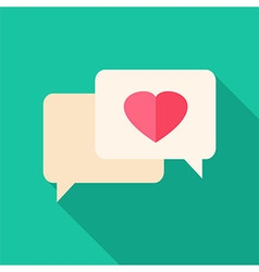 Speech bubbles with heart vector image