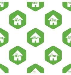 House for rent pattern vector