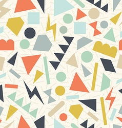 Retro 80s geometric pattern background vector