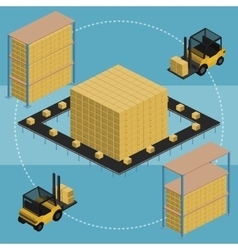 Warehouse infographic vector