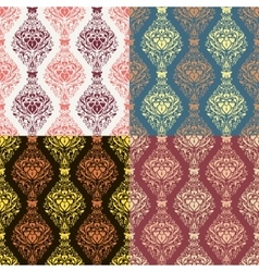 Set of seamless with abstract colorful floral vector