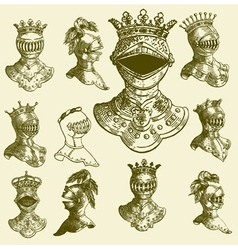 heraldry baroque armour vector image