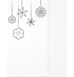floral pencil background vector image