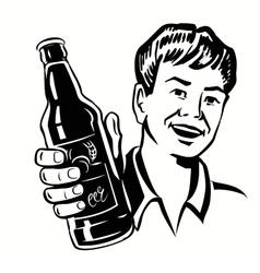 Retro Beer Guy vector image