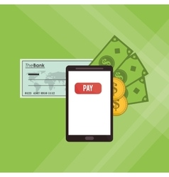 Payment with smartphone icon design vector
