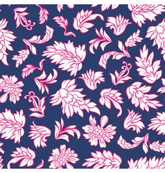 Flowers and leafs seamless vector image