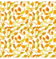 Seamless ecology pattern with leaves vector image