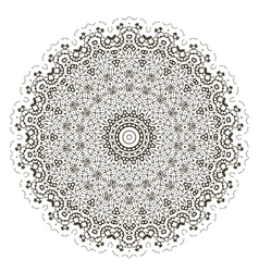 Round geometric ornament vector