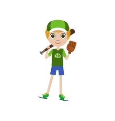 Boy baseball player vector