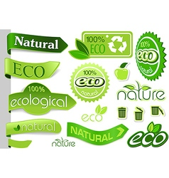 Eco banners and icons vector