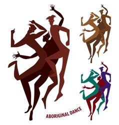 Aboriginal dance boy vector
