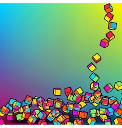 Abstract 3d colorful mosaic background EPS8 vector image vector image