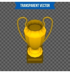 Abstract creative trophy cup isolated mockup on vector