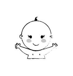 Beautiful baby cartoon vector