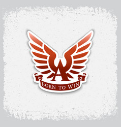 born to win label vector image