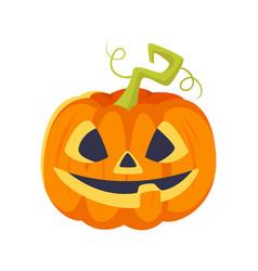 cartoon style halloween pumpkin vector image