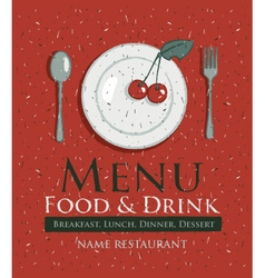 Cherry menu vector