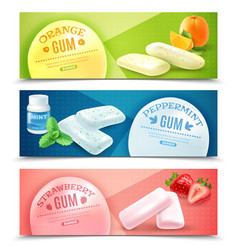 chewing gum banners set vector image